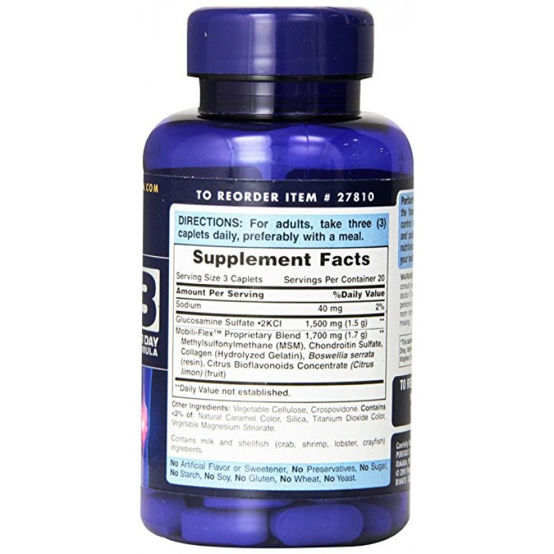 Puritan's Pride Double Strength Glucosamine, Chondroitin & MSM Joint Soother